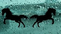 2X Horse Silhouette Vinyl Sticker Decal Car Van Bumper Laptop Window Wall HQ
