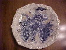 BEAUTIFUL FLOW BLUE PLATE DUNN BENNETT & CO. BURSLEM ENGLAND