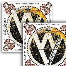VW RAT WHIP STICKER x 2 OLD SCHOOL VINTAGE, Unique rusty aged effect, new!