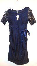 NWT Planet Motherhood Navy Stretch Lace Maternity Dress Size L