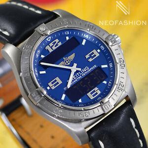 BREITLING AEROSPACE AVANTAGE TITANIUM 42MM BEAUTIFUL BLUE DIAL MENS WATCH E79362