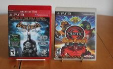 2 PS3 Games Batman Arkham Aslyum 3 D  & Chaotic Shadow Warriors