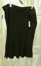 Terra & Sky Women's Slip Skirt 4X 28W- 30W - Black- Nwt