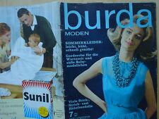 Burda Mode 07/63 baby KLEIDER Pariser Chic MIEDER Umstandsmode Handarbeit 60er J