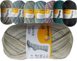 8kg Sockenwolle (100g/5,00€) Regia 4-fädig Nuance color, Cinema color, Funstripe