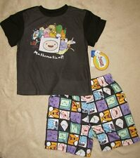 ADVENTURE TIME *Jake & Finn* Mathematical!* 2pc S/S Shirt Pajamas Pjs sz 6/7
