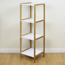 4 Tier Wooden Bamboo Home Bathroom Storage Shelf/Shelving Display Organiser Unit