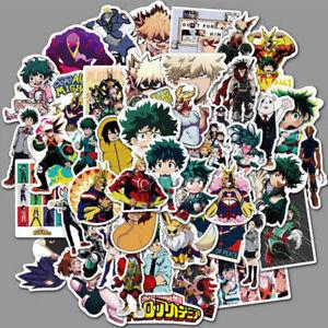 50pc My Hero Academia Stickers Anime No Hero Suitcase Wall Decals Skateboard Kit