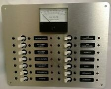 DC Marine Circuit Breaker Panel  Distribution with Analog DC Volt Meter