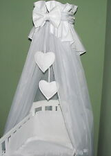 LOVELY  CANOPY DRAPE + HOLDER 4 BABY Crib/ Cradle COT/COTBED/COT BED