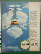 6/1986 PUB THOMSON-CSF AVIONIQUE AIRBUS ELECTRONIC COLOUR INSTRUMENT PANEL AD