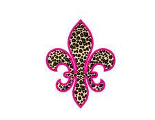 leopard fleur de lis vinyl decal