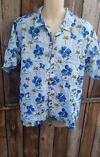 Men's Hawaiian Shirt Mustang 20th Anniversary Large L Short Sleeve 100% Cotton