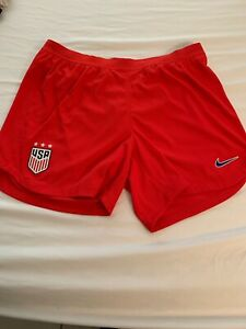 Nike Women's USA Vapor Match Away Shorts - Speed Red/Bright Blue Nwt Size Xl