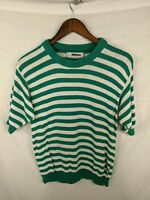 Jantzen VTG Striped Knitted Made in USA Pullover Sweater Shirt Sz S/M 80s 90s