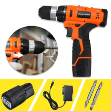 12V Electric Wireless Drill Driver 0-1250R/MIN Two Speed Power with Bits Set