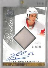 2008-09 The Cup Hockey Jonathan Ericsson Auto Patch Rookie Card # 217/249 (CSC)