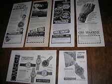 1962-1978:  6 x Omega Speedmaster ads  + F300 2872 2884 2907 2463  + Seiko DW001