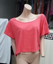 BNWT Victoria Secret pink top t shirt Size S Red- Hot Pink