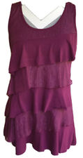 Womens Blouse Size Large Purple No Sleeves