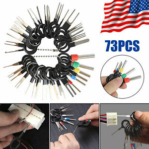 73Pcs Wire Terminal Removal Tool Car Electrical Wiring Crimp Connector Pin Kit