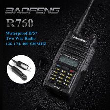 Baofeng R760 Waterproof+ Program Cable+ Headset VHF/UHF Ham Two-Way Radio New