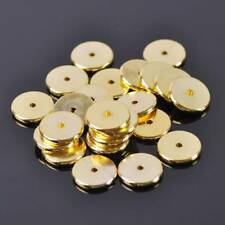 Wholesale Varisized Gold Plated Brass Disc Loose Metal Spacer Beads DIY Findings