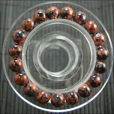 "New 8mm beautiful Golden Blue sand Round Beads bracelet 7.5 """