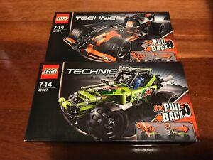 Lego Technic 42026 Black Champion Racer & 42027 Desert Racer