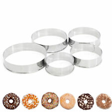 5Pcs Round Circle Stainless Steel Cookie Cutter Sets Biscuit Cookies Pastry Mold