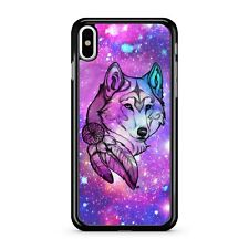 Dream Catcher Colourful Space Wolf Drawing Starry Galaxy Sky 2D Phone Case Cover