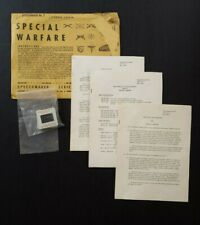 Rare Vtg Vietnam 1962 Us Army Special Warfare Speechmaker Series #7 ~ 9 Slides