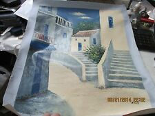 Painting from Greek Street Painter  On Canvas approx  19  x 23    L@@K  Large!!
