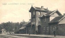 Reproduction photo d'une carte postale de la gare de Santbergen
