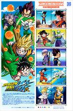 Doragom ball Japan Stamp Sheet Animation Hero Series Anime NEW