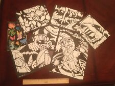 CRA-Z-ART LOT OF 7 - 19 X 15 COLORING POSTERS PLUS 2 STICKER SHEETS