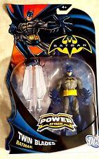 BATMAN POWER ATTACK ACTION FIGURE TWIN BLADES LAVA MISSION 2011 MATTEL