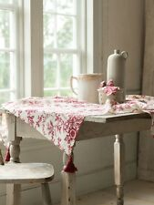 April Cornell Tablecloth Felicity's Flowers Collection NWT 100% Cotton Red