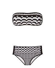 MISSONI MARE Striped Bandeau High-Waist Set Bikini NWT $565