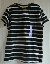New Boys 100% cotton Tshirt Black/grey/white 10-11 years