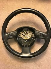 2005 2006 2007 2008 05-08 OEM Audi A4 Black Leather Steering Wheel W/controls
