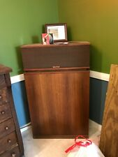 Pair of klipschorn speakers, one owner, ordered new. Oiled Walnut Finish.
