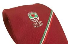 LSRL NWC SRL 1913-1988 Rugby Club Tie Red Polyester Vintage T40