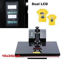 16x24 Clamshell Heat Press Machine Sublimation Transfer T-shirt Print LCD