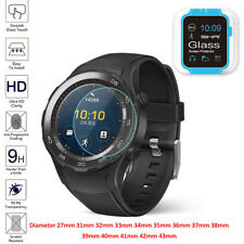 Universal Round Smart Watch Tempered Glass Screen Protector Film for Samsung LG