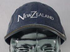 New Zealand Fern Logo Blue Hat Cap Adjustable