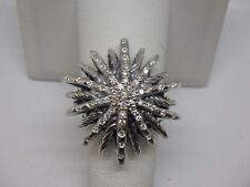 $1650 David Yurman large Starburst Ring with Diamonds size 6