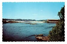 Indian Island Penobscot Tribe Reservation Postcard From Bridge at Old Town Maine