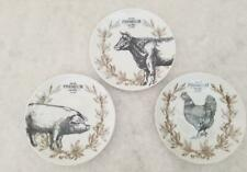Fitz and Floyd Animal Farmstead Appetizer Plates