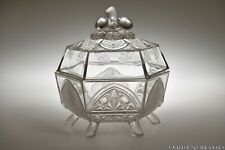 c 1884 No. 403 CLASSIC by Gillinder & Sons CLEAR Butter Dish w/Cover